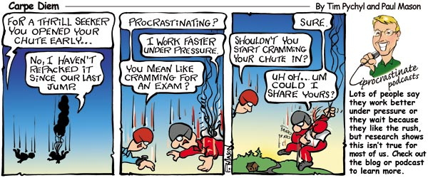 Carpe Diem Cartoon - The myth of arousal procrastination